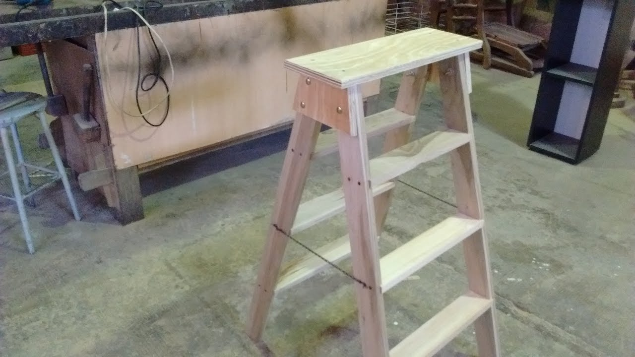 Como hacer una escalera escalera de madera youtube for Construir escalera de madera