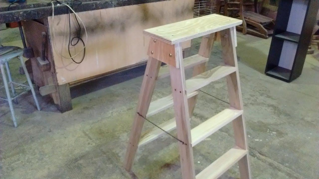 Como hacer una Escalera   Escalera de madera Leccion N