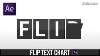 After Effects Tutorial: FLIP TEXT Chart & Clock Animation
