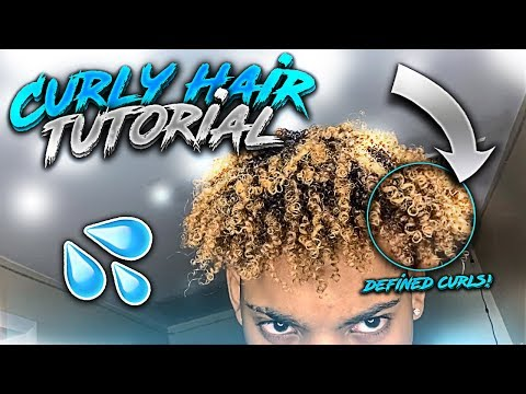 how-to-get-curly-hair-easy-2019!-defined-curls-for-men-&-women-(curly-hair-tutorial)