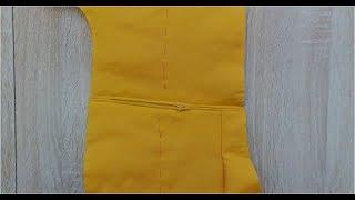 Комбинезон для маленькой Евы. Часть 3. Обработка кармана в шве на застёжке-молнии
