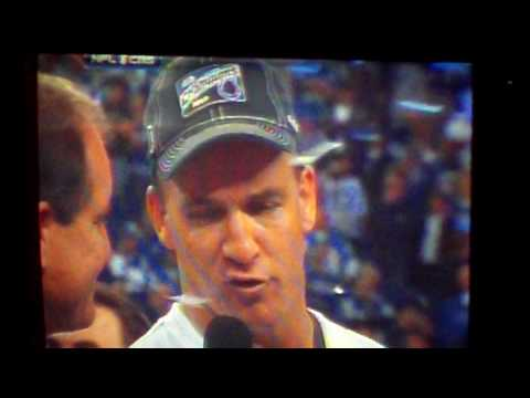 Indianapolis Colts Win AFC Championship 2009-2010