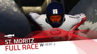 St. Moritz | BMW IBSF World Cup 2016/2017 - Women's Skeleton Heat 2 | IBSF Official