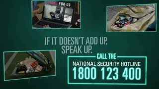 National Security Campaign – 15 second bag television advertisement thumbnail