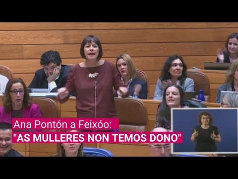 """Ana Pontón a Feixóo: """"AS MULLERES NON TEMOS DONO"""""""