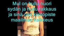 Anitta Mattila - Hullu nuori sydän (Lyrics)