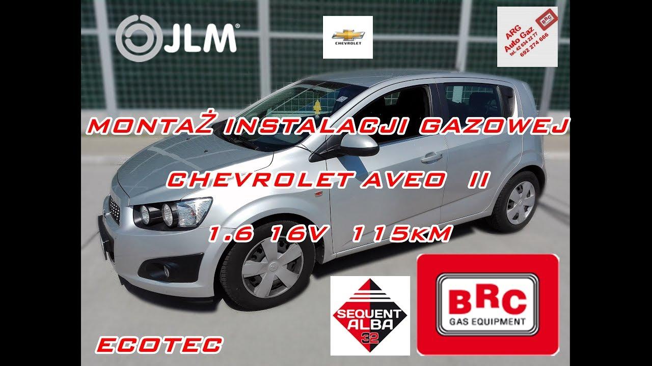 Chevrolet aveo 1 6 16v 115km ecotec instalacja gazowa sequent alba 32 brc od arg auto gaz d