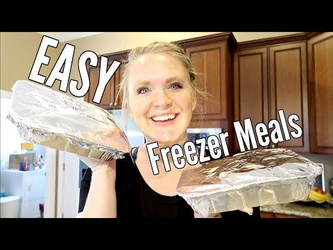 TWO CHEAP AND EASY FREEZER MEALS | MAKE AHEAD MEALS