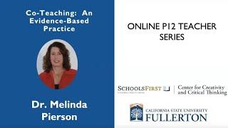 K12 Online Teaching Webinars: Co-Teaching Evidence Based Practice