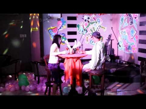 valentine date @ blue reef karaoke bar in samal