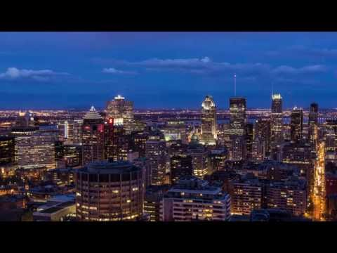 Montreal From Day To Night Timelapse 4K UHD