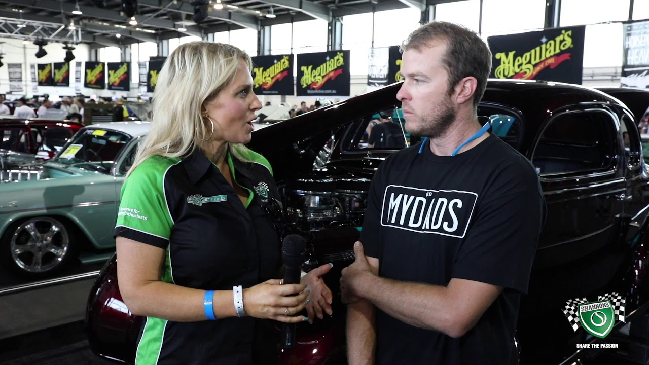 Summernats 32 - Sandra Horne chats with Dean Wilson Meguiars Elite Hall Unveil Plymouth Shannons