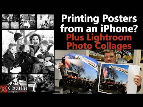 Printing Posters from an iPhone? Plus Lightroom Photo Collages
