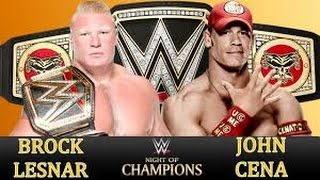WWE NIGHT OF CHAMPIONS JOHN CENA VS BROCK LESNAR (WWE SHOWDOWN 2 GAME PLAY #1)