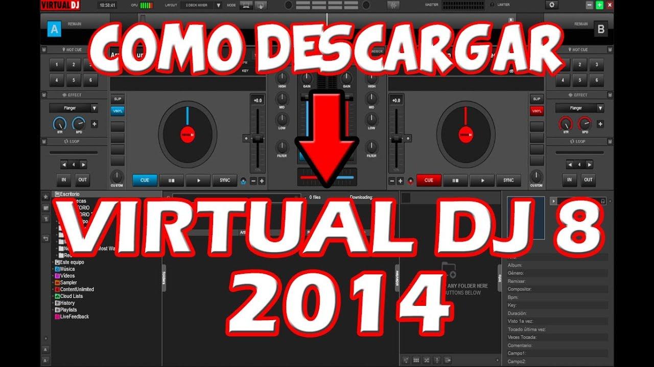 descargar virtual dj 8 full en español