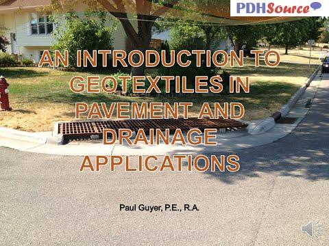 AV PP Geotextiles Pavement Drainage