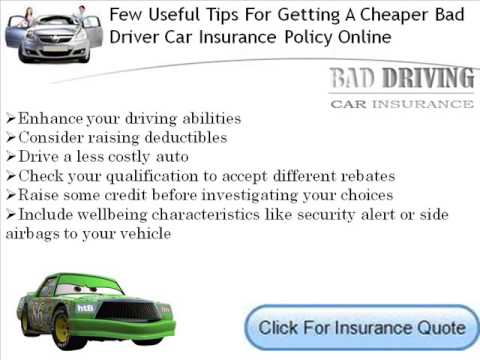 Bad Driving Record Car Insurance For Young Drivers Youtube