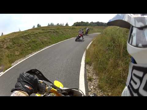 Motocross big crash! Honda CR breaks in two on supermoto circuit Erzgebirgring