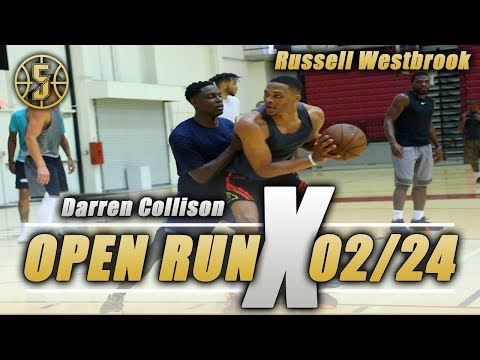 NBA Open Gym Russell Westbrook and Darren Collison go at it
