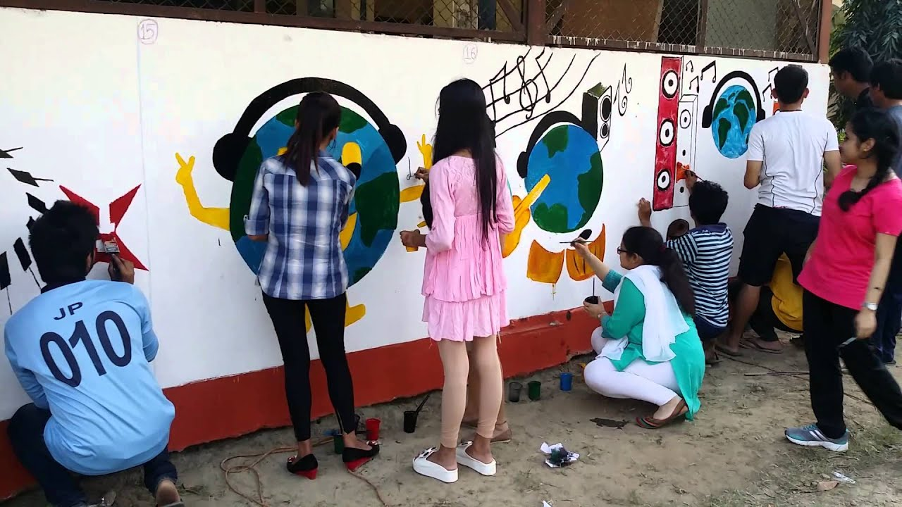 Wall Painting Competition At Adbu Youtube