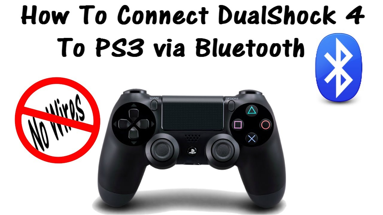 How To Connect DualShock 4 to PS3 via Bluetooth (No Wires) - YouTube