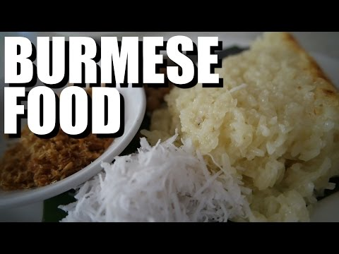 Trying Food in Myanmar, Yangon 2016 ( Sticky coconut rice!)