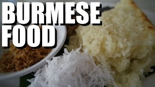 Trying Food in Myanmar, Yangon 2016 ( Sticky coconut rice!) thumbnail