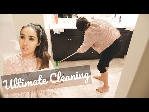 ULTIMATE CLEAN WITH ME    AFTER DARK CLEANING MOTIVATION 2018