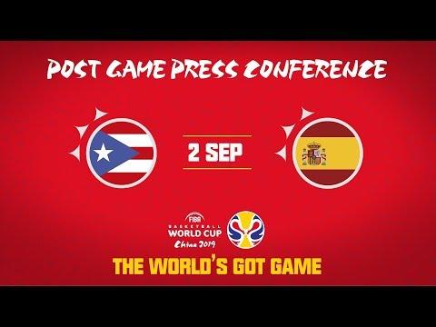 Puerto Rico v Spain - Press Conference - FIBA Basketball World Cup