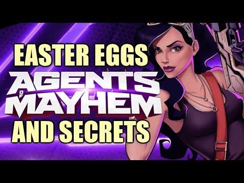Saints Row: AGENTS OF MAYHEM All Easter Eggs And Secrets HD