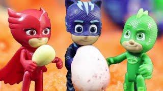 PJ Masks Toys - Surprise Eggs inside the Volcano - PJ Masks to the rescue #PJMasksofficial