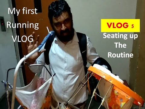 My first Running ~vlog5||Seating up Routine !!