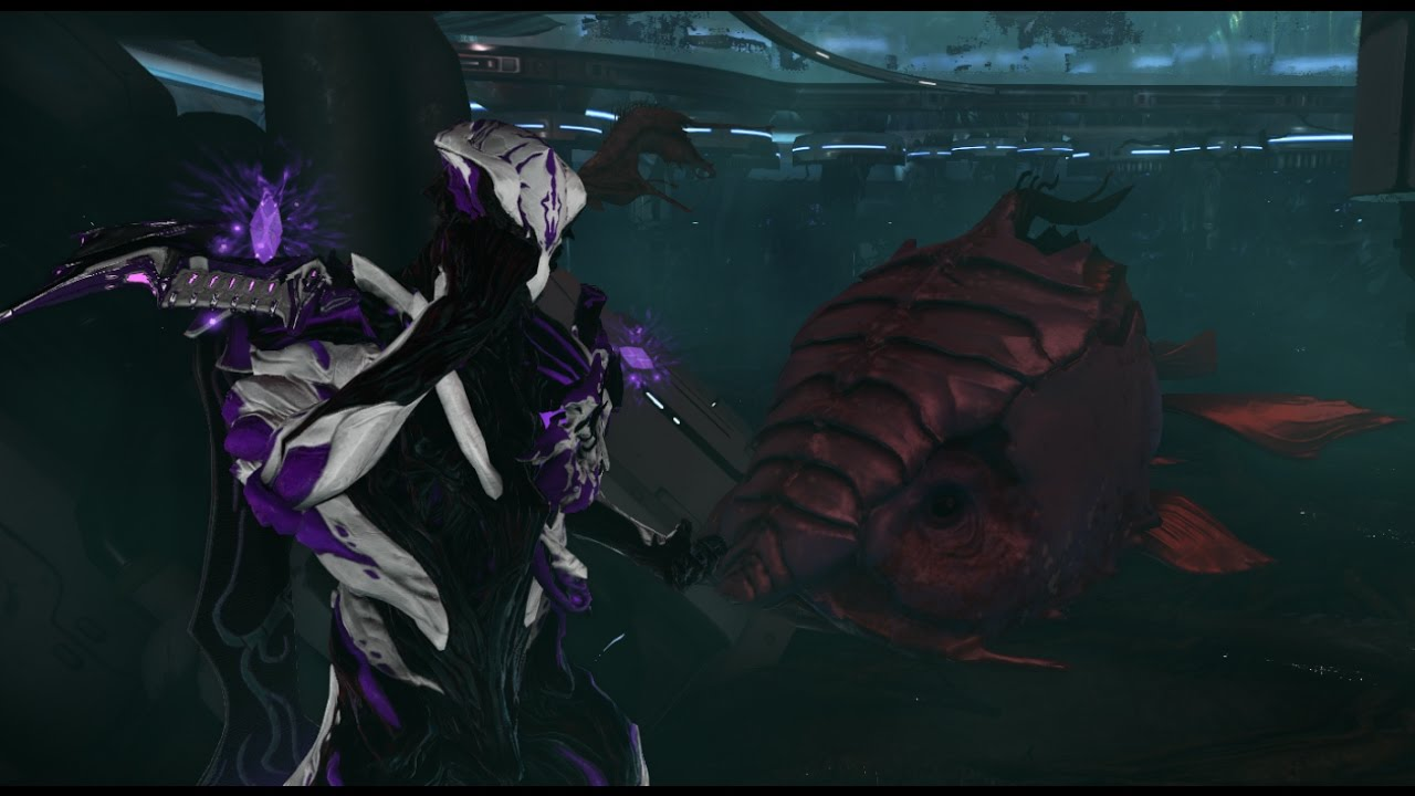 warframe behind the infested door in the fish tank
