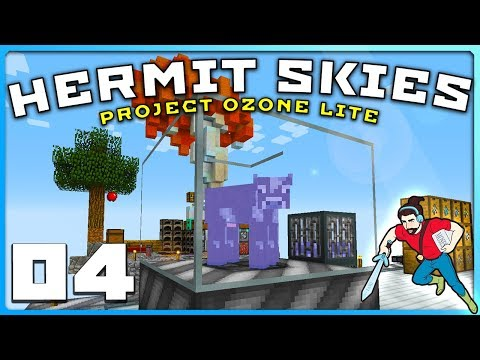 Hermit Skies | Ep 04 | RIDICULOUSLY LUCKY?! || Project Ozone Lite Modded Minecraft