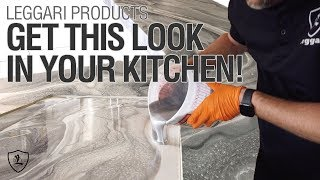 Epic Dirty Pour On A Kitchen Island | Leggari Products