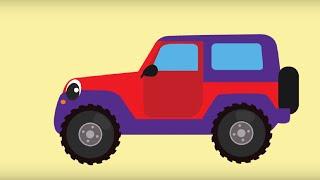 БИБИКА - Машины (седан, универсал, кабриолет, внедорожник) - Развивающие мультики про машинки