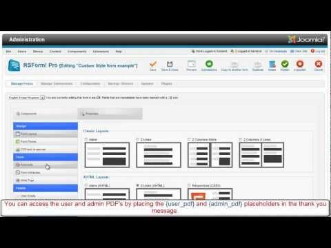 RSForm! Pro PDF Plugin