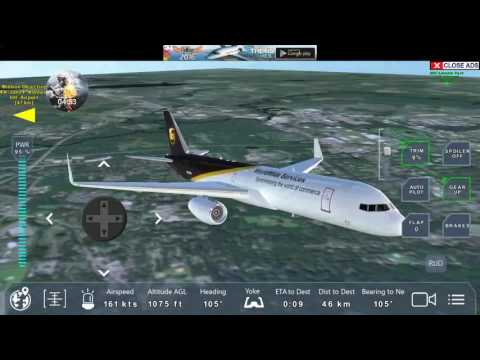 Pro Flight Simulator NYC (ups courier Boeing 757 200F) Flight to JFK Intl.g  Airport : EP1