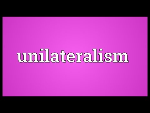 Header of unilateralism