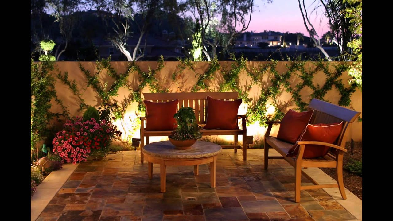 Backyard Lighting Ideas - YouTube for Outside House Lighting Ideas  117dqh