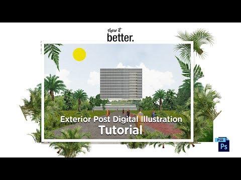 Post Digital Illustration Exterior Tutorial (inside Secrets)