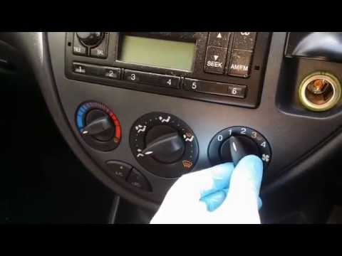 Ford Focus heater resistor - YouTube