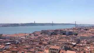 Lisbon Skyline (Lisboa) in Portugal (Panoramic view from Castle of São Jorge)