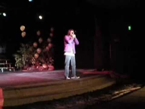 Patrick beatboxing for Mr. and Mrs. Mesa at Costa Mesa high school