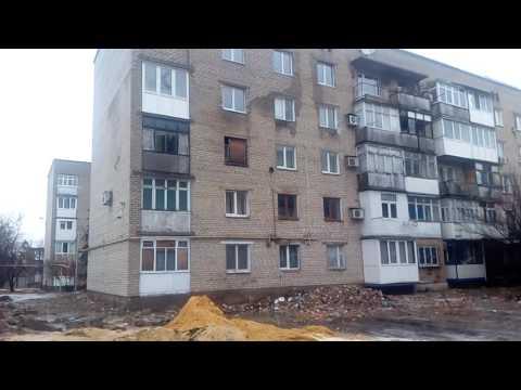 Видео: Марьинка,частичное восстановление домов пострадавших от снарядов