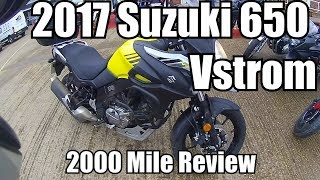 2017 Suzuki VStrom DL650 2000 Mile Review