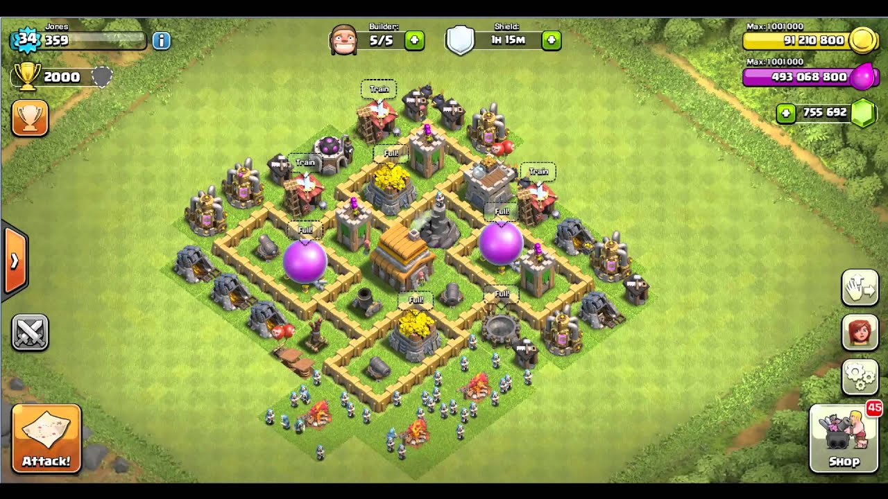 Base Coc Th 5 Terkuat 4