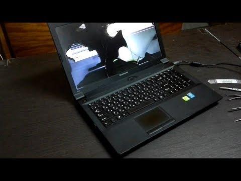 Как заменить дисплей в ноутбуке Lenovo B590?