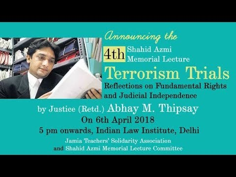 Terror Trails: Reflections on Fundamental Rights and Judicial Independence