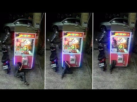 Carmine - Guy Climbs Into Claw Game And Steals Stuffed Animal